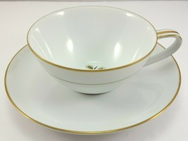 Noritake Wheatcroft Cup and Saucer White and Gold 6 oz Tea Coffee 5852  - $9.90