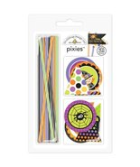 DOODLEBUG Halloween Parade Pixies & Flags Assortment Pack-makes 32 Embel... - $7.87