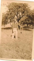 Antique Vintage Photograph Man With Gun / Rifle and Dead Animal in Hand - $5.35