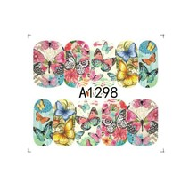 "HS Store -1 Sheets Nail Sticker Butterfly ""A1298"" Nail Decorations UV Ge... - $2.51"