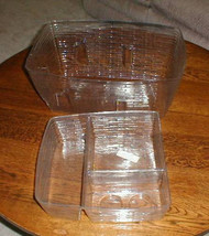 Longaberger Family Picnic 1999 Basket 2 piece Plastic Protector Set Only - $24.74