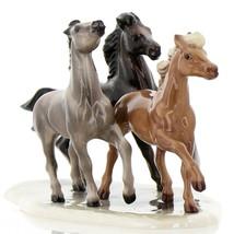 Hagen Renaker Specialty Horse Wild Mustangs on Base Ceramic Figurine