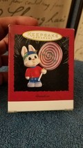 Hallmark Vintage Keepsake Ornament 1995 Grandson - Rabbit w/ Lollipop #QX5787-DB - $2.84