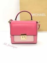 NWT Michael Kors Mini Mindy Top Handle Crossbody Purse Leather Pink Multi $278 - $124.95