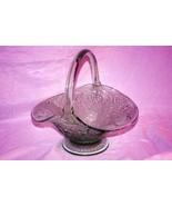 Indiana Glass Tiara Glass 2000 Sandwich Chantilly Green Wedding Basket S... - $56.69