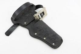 Vintage 1970s Cap Gun Holster Single Black Plastic w/ Belt Lone Ranger H... - $19.99