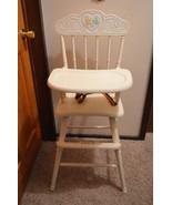 VTG. 1982 Care Bears High Chair White Wood-Hearts-Stars-Suns-Moons++Grea... - $272.25
