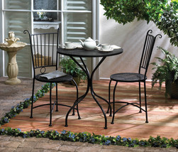 Outdoor Metal Bistro Patio Set Available in 2 Colors - £165.40 GBP