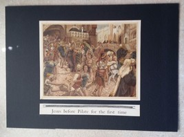 """Original Print """"Jesus Before Pilate First The Time """" by J. James Tissot ... - $28.04"""