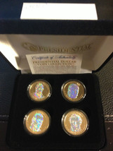2009 USA MINT HOLOGRAM PRESIDENTIAL $1 DOLLAR 4 COIN SET Gift Box Certified - $21.87