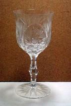 "American Cut Stem #326 Eleanor Crystal Water Goblet Pinwheel And Fan 7"" - $50.39"