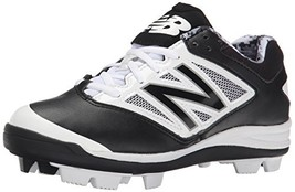 Balance Low-Cut 4040v3 Kids Rubber Molded Baseball Cleat Black/White - $53.12