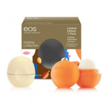 EOS Holiday Collection Pumpkin Spice & Vanilla Bean Lip Balm Set  - $11.52