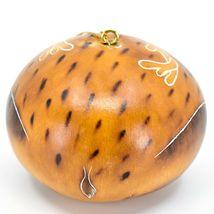 Handcrafted Carved Gourd Art Deer Buck Animal Ornament Made in Peru image 3