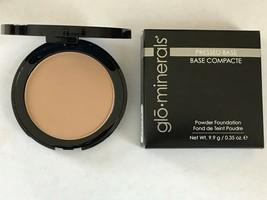 Glominerals Pressed Base Powder Foundation Compact Honey Dark - $25.00