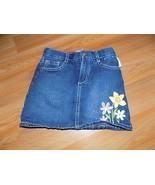 Girl's Size 5 Gymboree Denim Blue Jean Mini Skirt Skort Floral Flower Em... - $12.00
