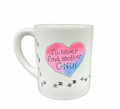 Applause Never Find Another Gnu Coffee Cup/Mug Vintage 1984 Japan Valent... - $19.79