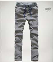 Fashion Men's Light Grey Cotton Pant High Quality Casual Sport Long Pant... - $38.76
