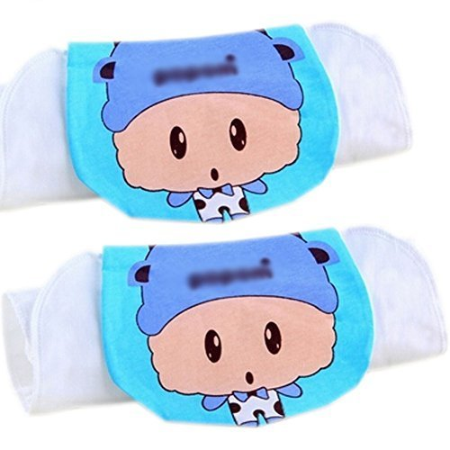 Lovely Taurus Cotton Gauze Towel Wipe Sweat Absorbent Cloth Mat Towel 2 Pcs
