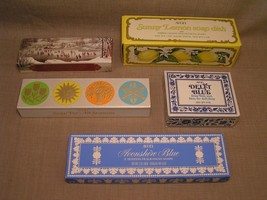 5 1970's Vintage Avon NIB Figural Soap Sets -1876 Winterscapes, Delft Bl... - $20.56