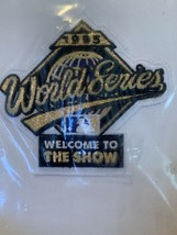 1995 World Series Large Big Jersey Patch Atlanta Braves Cleveland Indians - $13.09