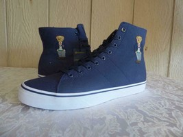 $95.00 Polo Ralph Lauren Men's Polo Bear Solomon High-Top sneakers, Navy... - $45.19