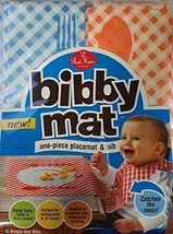 Bibby Mat Disposable Bibs Placemat 12 Pack - $6.99