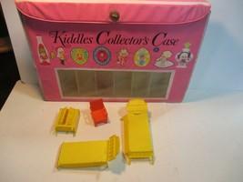 Vintage Liddle Kiddles Pink Collector's Case For Dolls Mattel 1960s & Furniture - $12.98