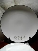 2 Vintage Noritake Dinner Plates Rose Pattern Pat Pending U.S. Silver Edge - $23.99