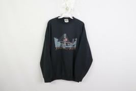 Vintage 90s Mens XL Mackinac Bridge Spell Out USA Flag Crewneck Sweatshi... - $34.60