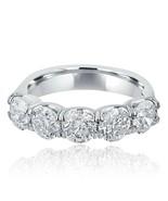 2.53 Ct Diamond 14k White Gold 5 Stone Wedding Band Ring Prongs Set Women's - $5,100.54