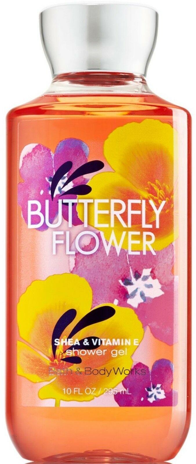 Bath & Body Works Butterfly Flower Shower Gel Body Lotion & Body Cream Set