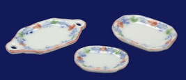 DOLLHOUSE MINIATURE 3 PC PINK AND BLUE SERVING SET #PD5047 - $4.99