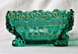 1898-1903 Alaska Pattern Berry Bowl EAPG Green Glass Northwood w/ Chippe... - $199.95