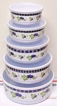 10 Pcs MELAMINE Food Storage Containers Mixing Bowl Set With Air Tight L... - $248,40 MXN