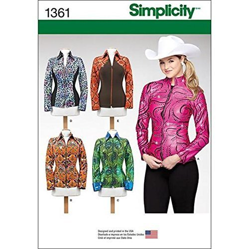 Simplicity Creative Patterns 1361 Misses' Knit Equestrian Performance Shirt, P5