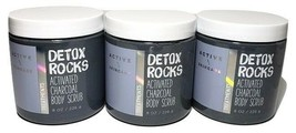 Bath & Body Works Detox Rocks Activated Charcoal Body Scrub  Set of 3 - $25.00