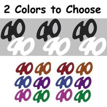 Confetti Number 40 - 2 Colors to Choose - 14 gms bag FREE SHIPPING - $3.95+