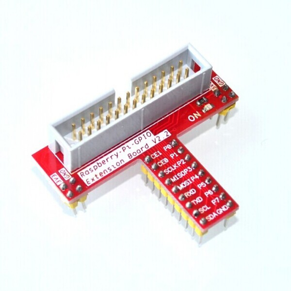 Raspberry Pi GPIO adapter plate for bread plate gold factory direct plug-in vers