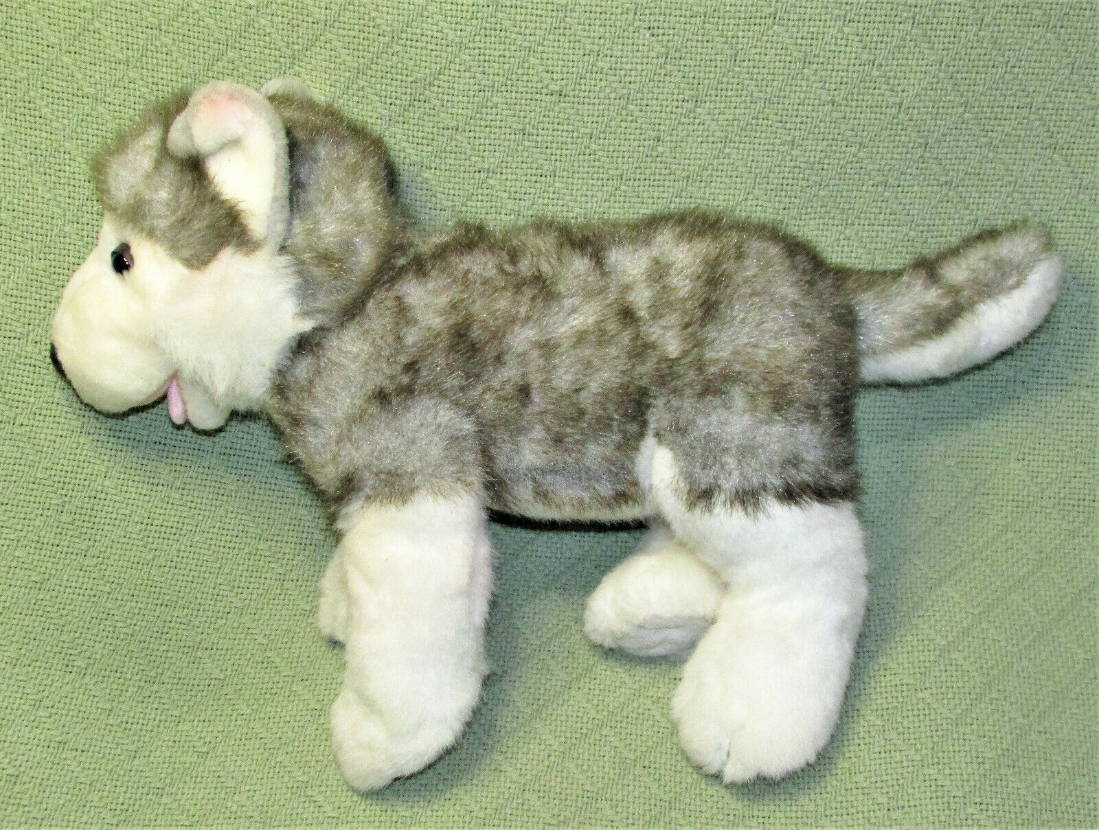 "Primary image for BUILD A BEAR HUSKY 17"" STUFFED ANIMAL PUPPY GREY GRAY WHITE WITH BARKING SOUND"
