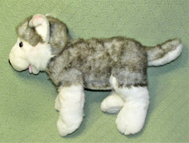 "BUILD A BEAR HUSKY 17"" STUFFED ANIMAL PUPPY GREY GRAY WHITE WITH BARKING... - $17.82"