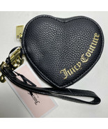 Juicy Couture Black Heart Shape Wristlet With Logo - $22.24