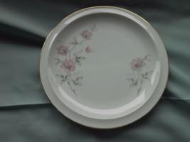 TWILIGHT ROSE Dessert Salad Plate by Royal Domino Japan Pink Roses Gray... - $6.50