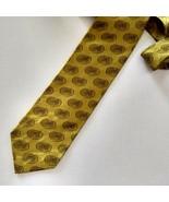 Mens Baileys Irish Cream Tie Necktie St Patricks Day 100% Silk Gold - $17.81