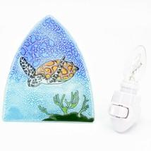 Fused Art Glass Swimming Sea Turtle Nightlight Night Light Handmade Ecuador image 1