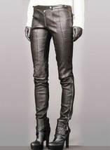 Motocross Leather Pants Black Colour Mono ectric, Women Wasit Belted Pants - $179.99+