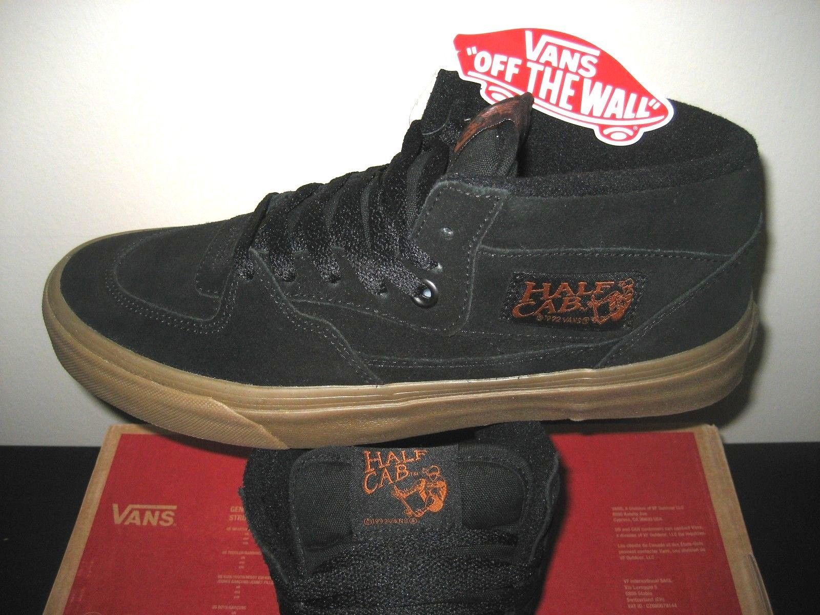 85d96f435b9 57. 57. Previous. Vans Mens Half Cab Gum Black Black Suede Canvas Skate  Shoes Size 7 Classic NWT