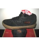 Vans Mens Half Cab Gum Black Black Suede Canvas Skate Shoes Size 7 Class... - $47.50