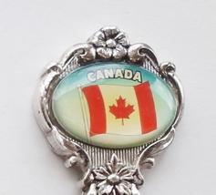 Collector Souvenir Spoon Canada Canadian Flag Celeste Perfection Plate  - $6.99
