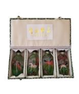 Vintage Neihuajingpin Horse Snuff Bottle Set Chinese Reverse Hand Painte... - $39.99
